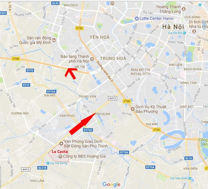 map 01 - Bản đồ vị trí La-Casta Văn Phú quận Hà Đông