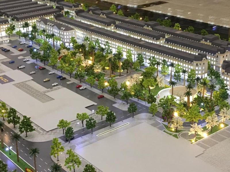 Phối cảnh 3D dự án liền kề La Casta Văn Phú HiBrand đường Lê Trọng Tấn – Quang Trung, Hà Đông